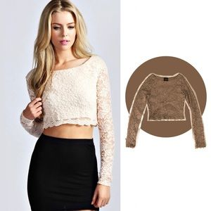 Sienna Long Sleeve Crop Top
